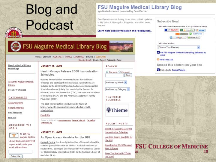 Blog and Podcast