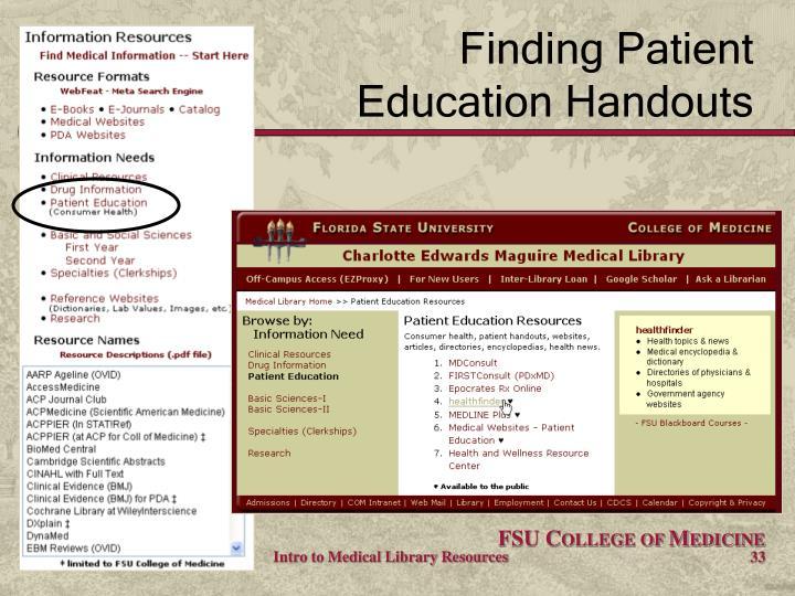 Finding Patient
