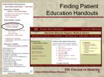 finding patient education handouts