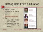 getting help from a librarian