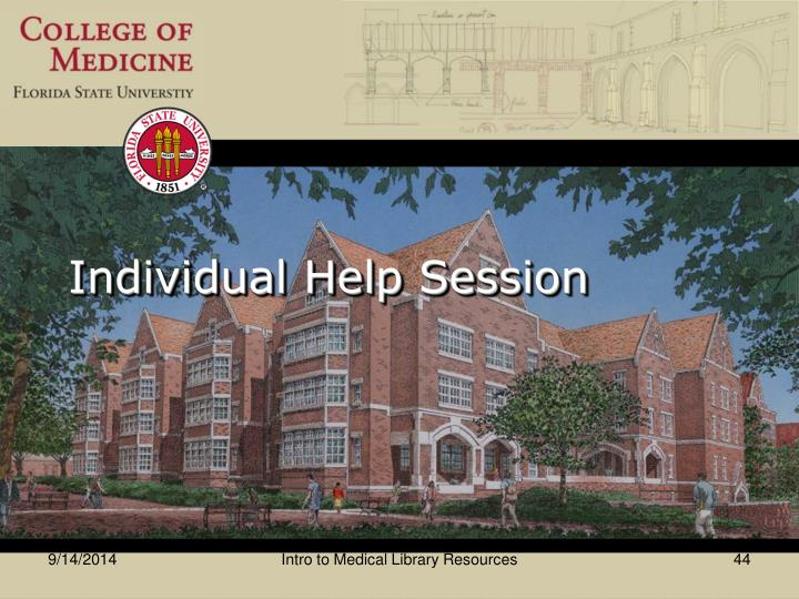 Individual Help Session