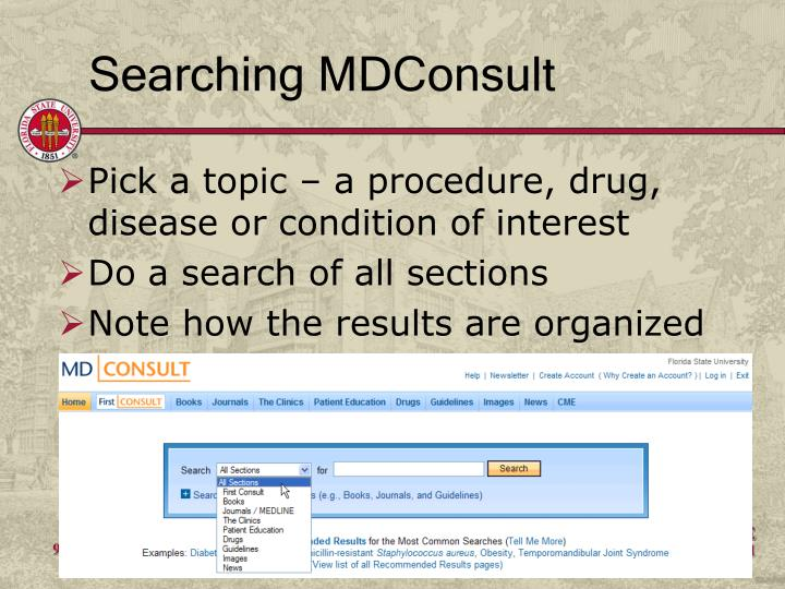 Searching MDConsult