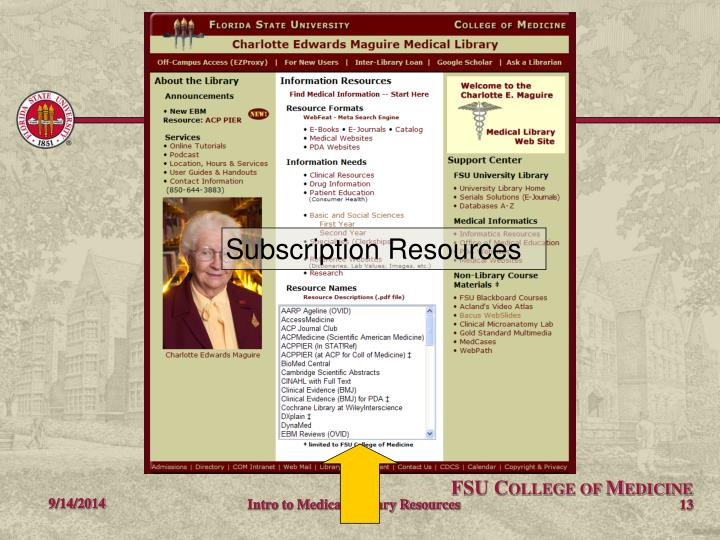 Subscription Resources