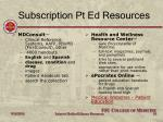 subscription pt ed resources