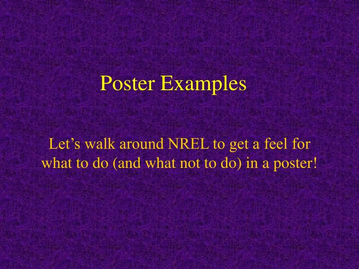 Poster Examples
