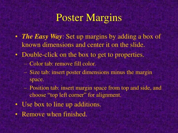 Poster Margins