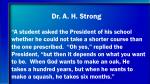 dr a h strong