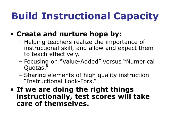 Build Instructional Capacity
