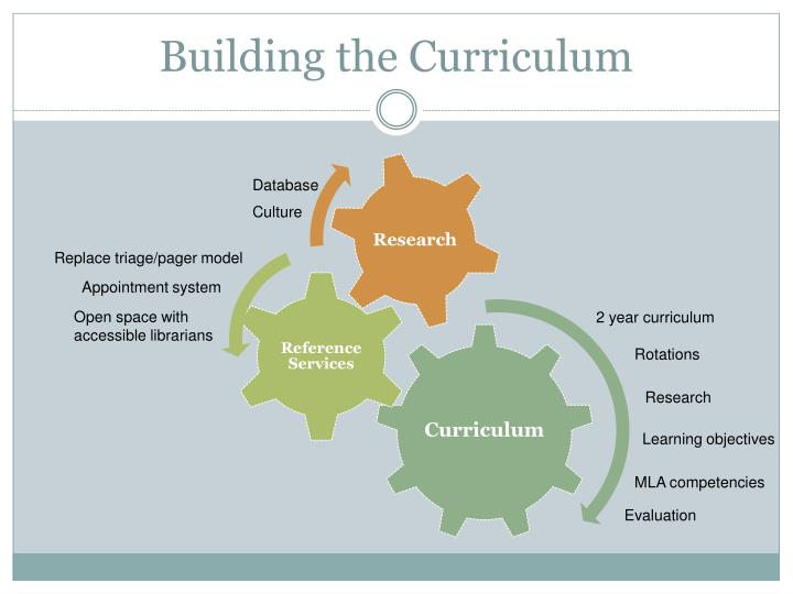 Building the Curriculum