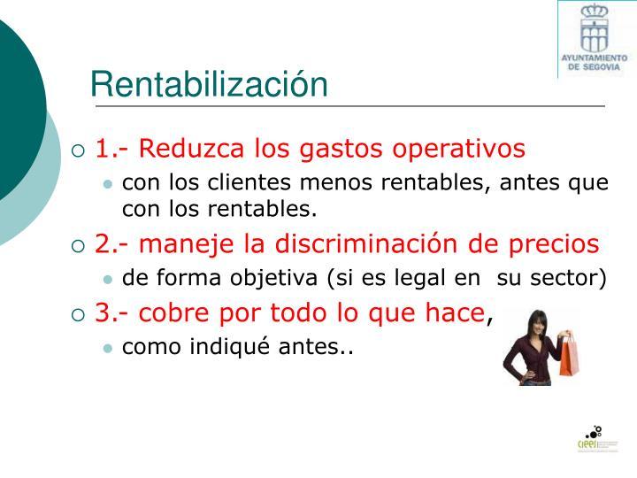 Rentabilización