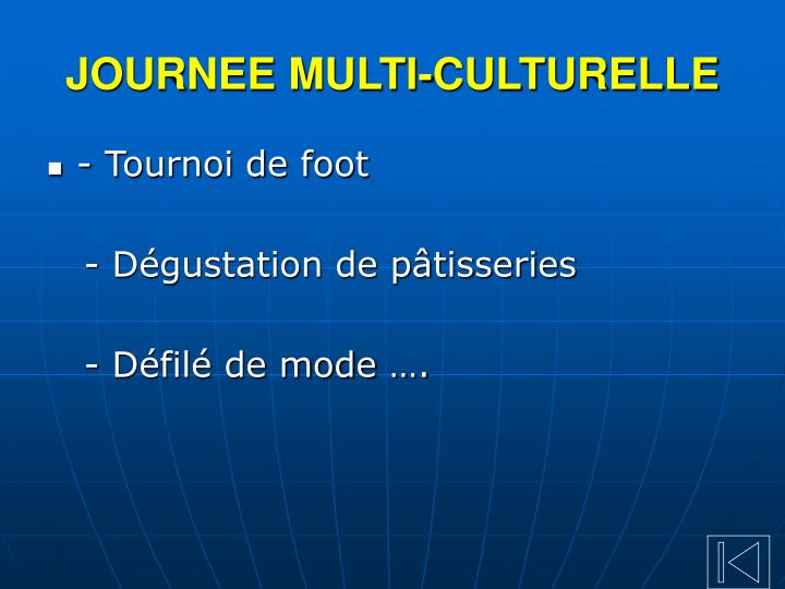 JOURNEE MULTI-CULTURELLE