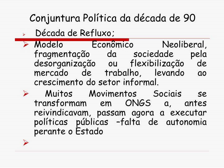 Conjuntura Política da década de 90