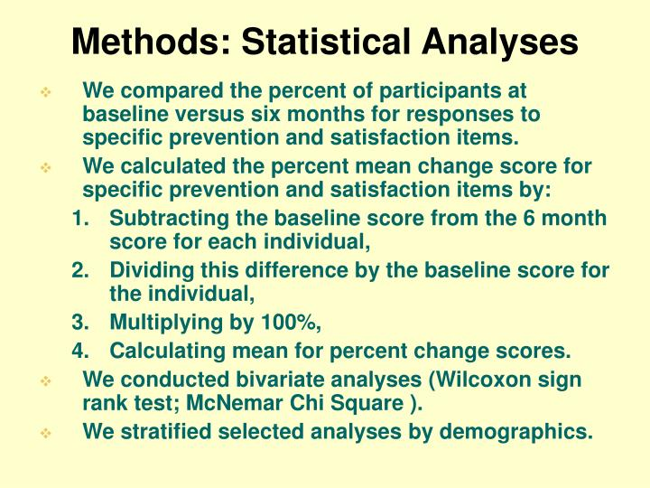 Methods: Statistical Analyses