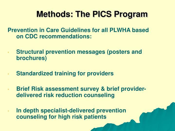 Methods: The PICS Program