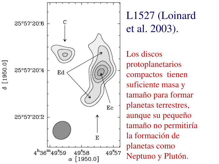 L1527 (Loinard et al. 2003).