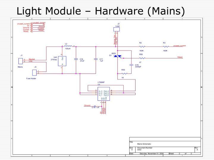 Light Module – Hardware (Mains)