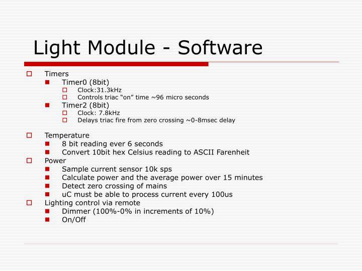 Light Module - Software
