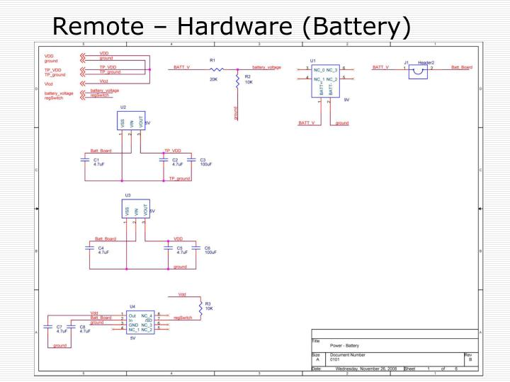 Remote – Hardware (Battery)