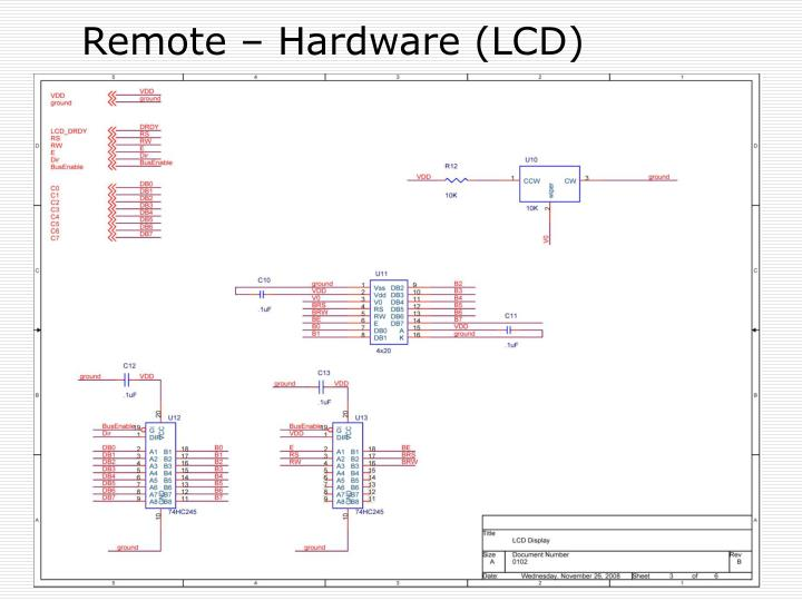Remote – Hardware (LCD)