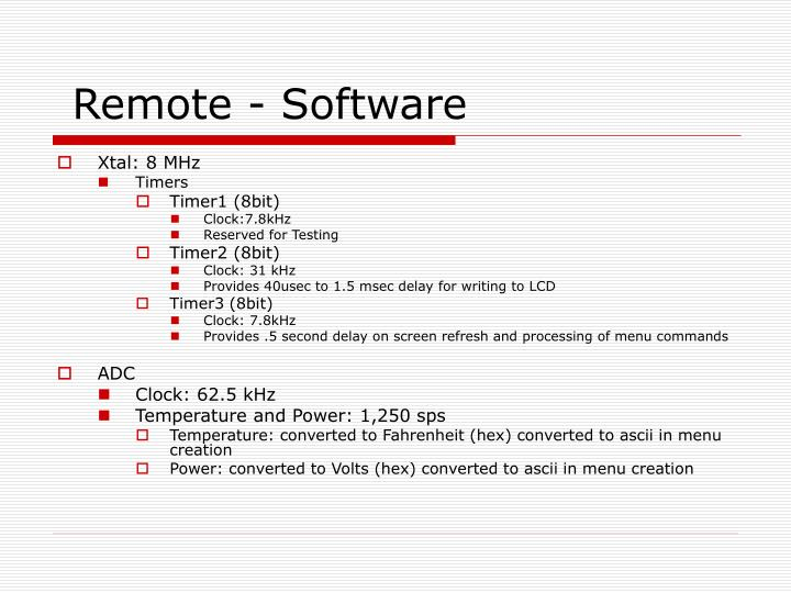 Remote - Software