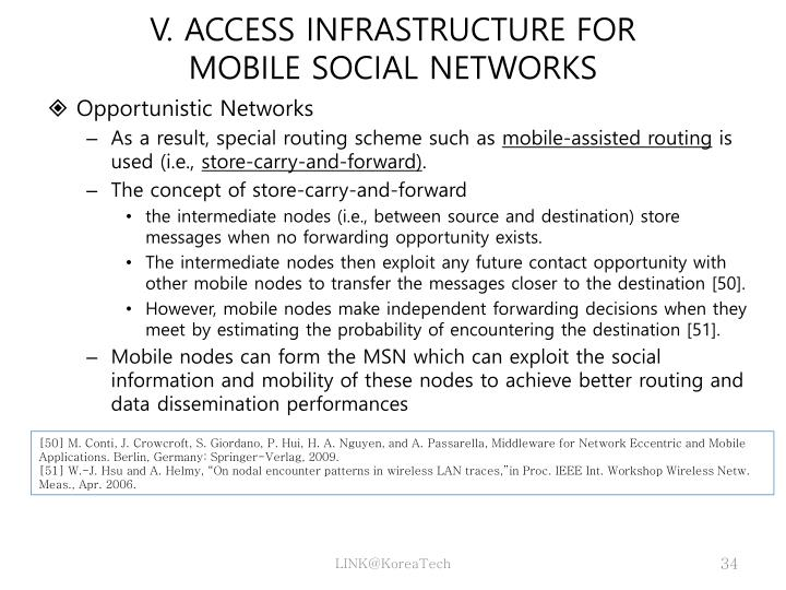 V. ACCESS INFRASTRUCTURE FOR