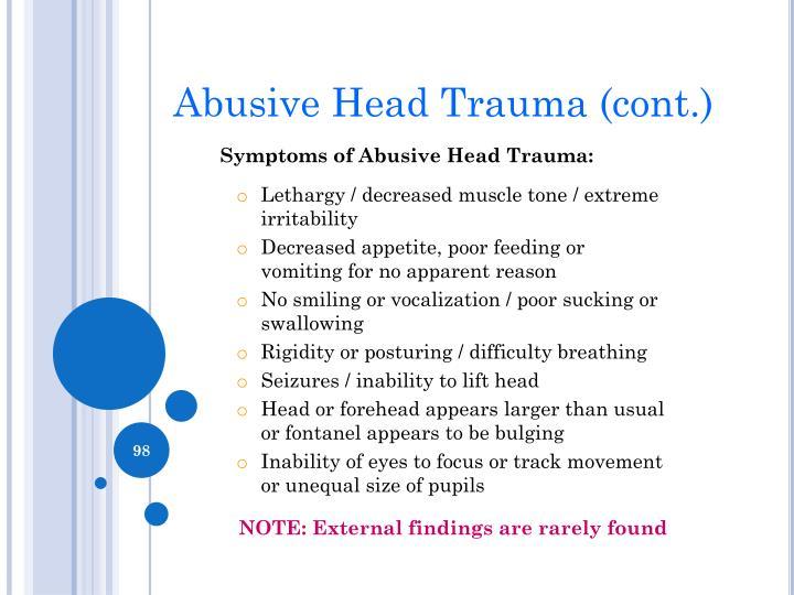 Abusive Head Trauma (cont.)