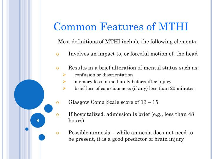 Common Features of MTHI
