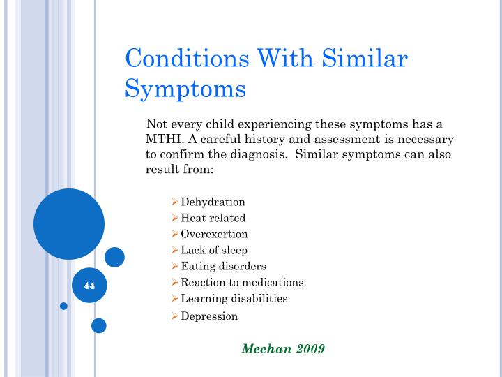 Conditions With Similar Symptoms
