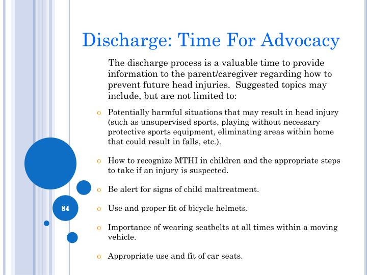 Discharge: Time For Advocacy