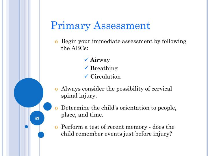 Primary Assessment