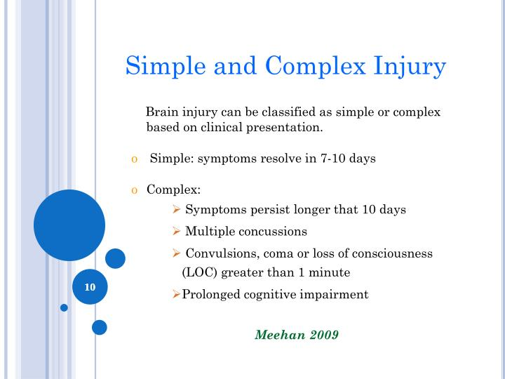 Simple and Complex Injury