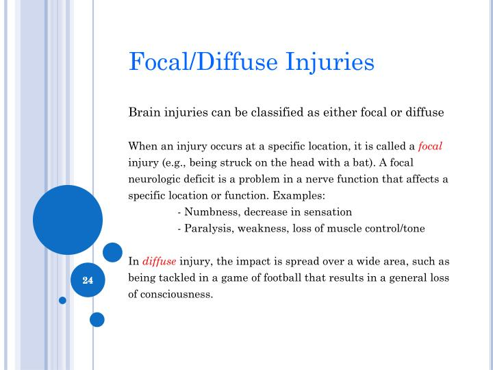 Focal/Diffuse Injuries