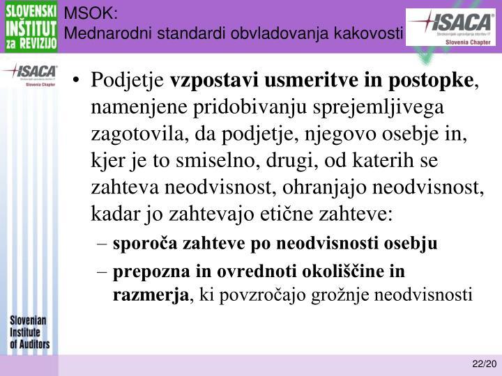 MSOK: