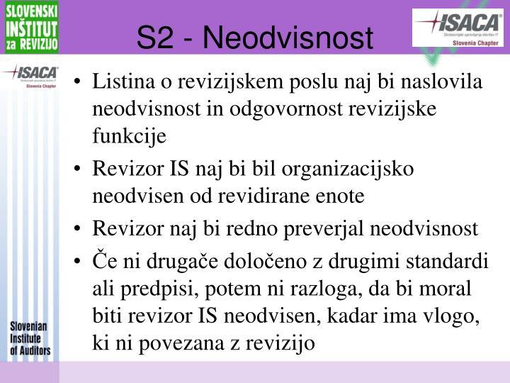 S2 - Neodvisnost
