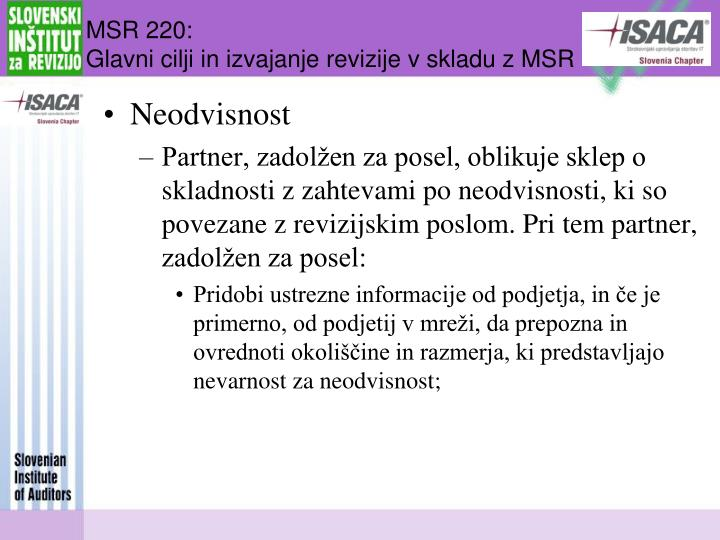 MSR 220: