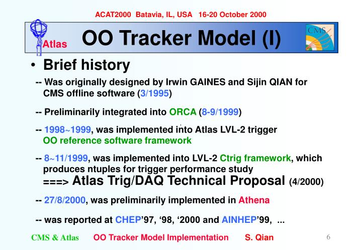 OO Tracker Model (I)