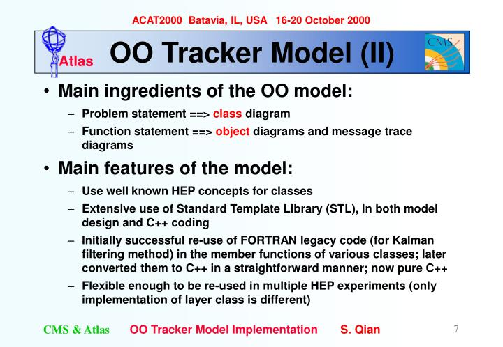 OO Tracker Model (II)