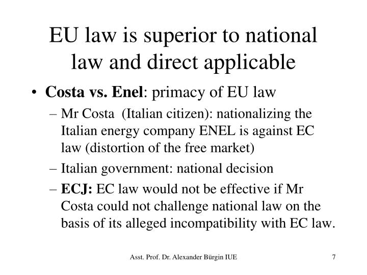 EU law is superior to national law