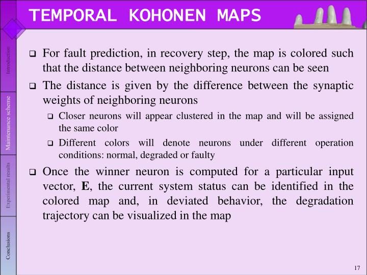 TEMPORAL KOHONEN MAPS