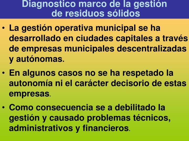 Diagnostico marco de la gestión