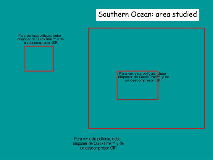 Southern Ocean: area studied