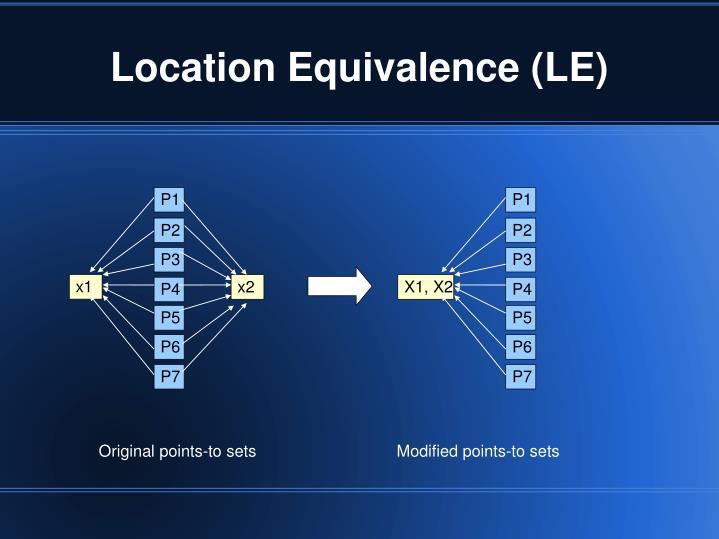 Location Equivalence (LE)
