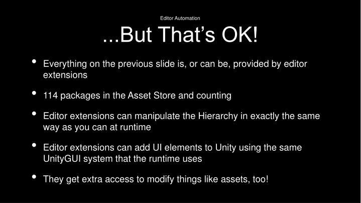 Editor Automation