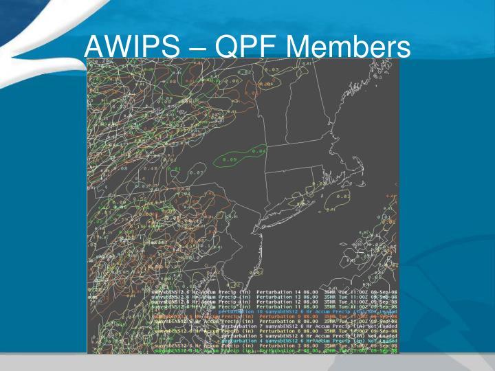 AWIPS – QPF Members