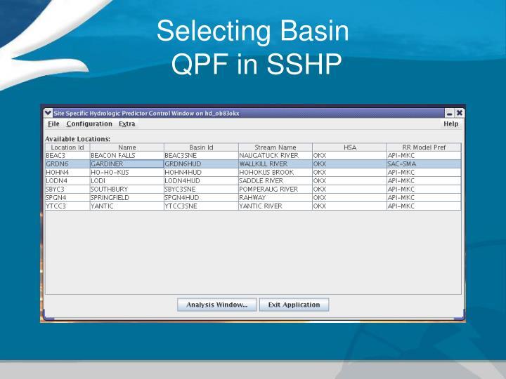 Selecting Basin