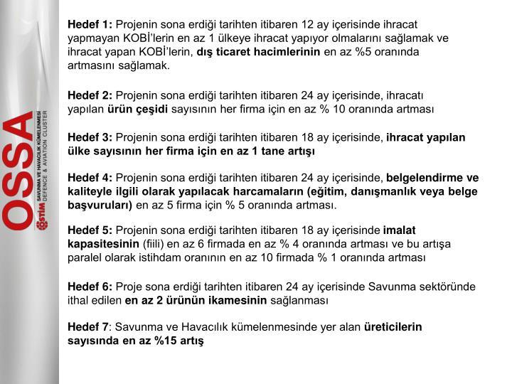 Hedef 1: