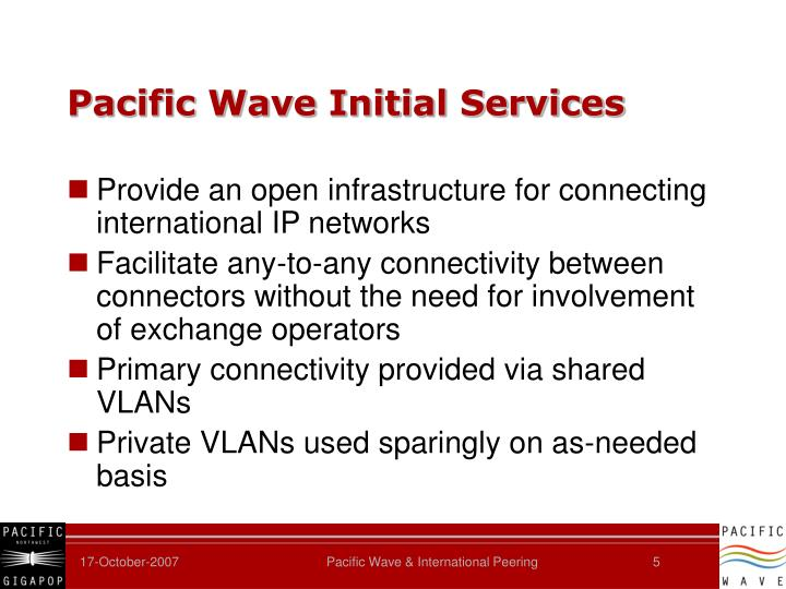 Pacific Wave Initial Services