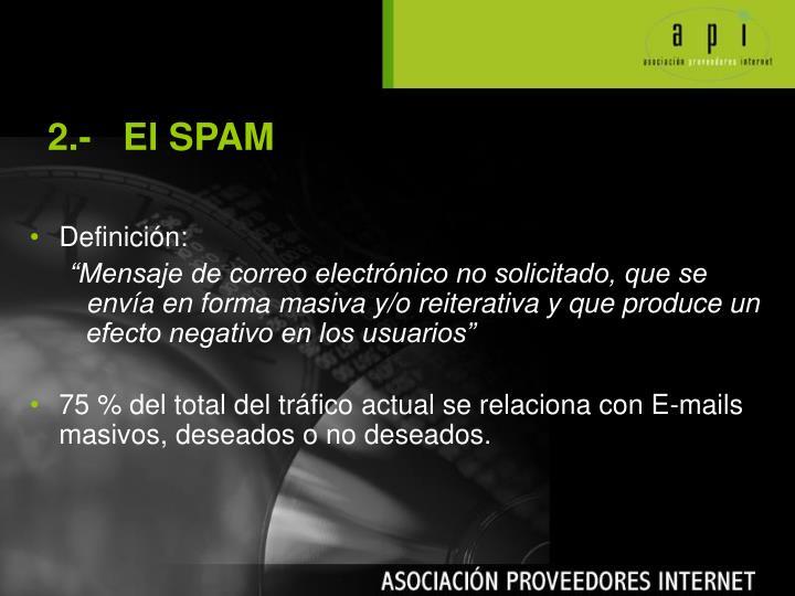 2.-   El SPAM