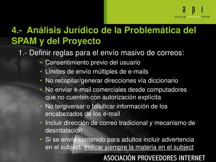 4.-  Análisis Jurídico de la Problem