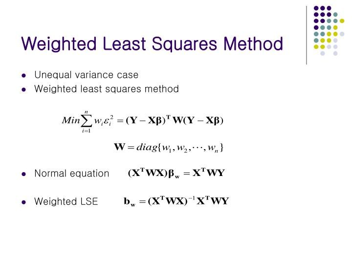 Weighted Least Squares Method